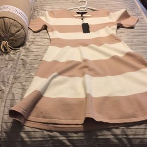 BCBG Horizontally Striped Dress